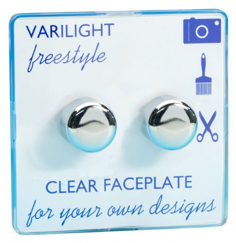 Varilight TIFP252C Freestyle Clear 2 Gang 2-Way Push-On/Off Dimmer 40-250W V-Dim